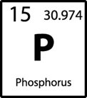 The symbol for phosphorous from the periodic table of the elements