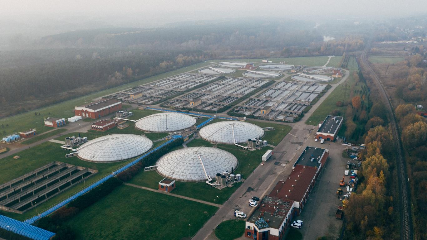 Image of sewage treatment plant